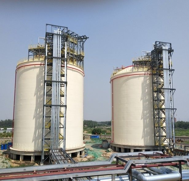 Metal Full Capacity Cryogenic LNG Storage Tanks 2X10000m3 LNG Double Layers